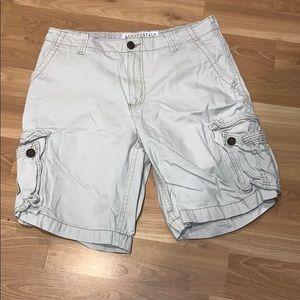 Aeropostale cargo shorts off white size 34
